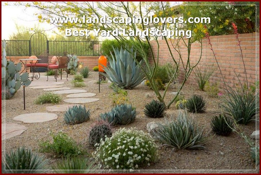 How To Improve Your Landscaping Landscaping Lovers Desert Landscaping Backyard Low Water Landscaping Desert Backyard