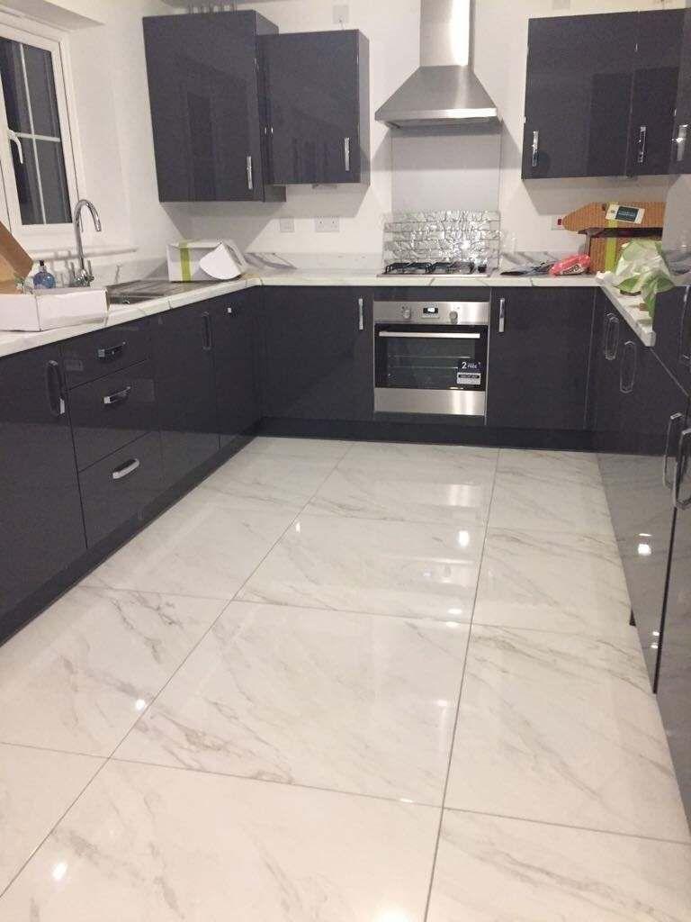 Hellas Marmor Effekt Bodenfliesen Bodenfliesen Effekt Hellas Marmor In 2020 Marble Tile Floor Kitchen