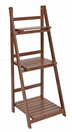 Detalles de ts ideen mueble para flores estante escalera - Madera para estantes ...