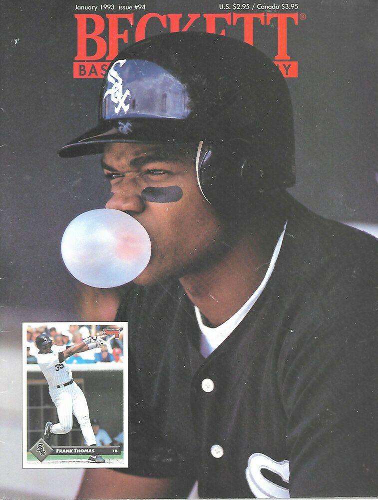 Beckett Baseball Card Monthly Magazine January 1993 94 Frank Thomas