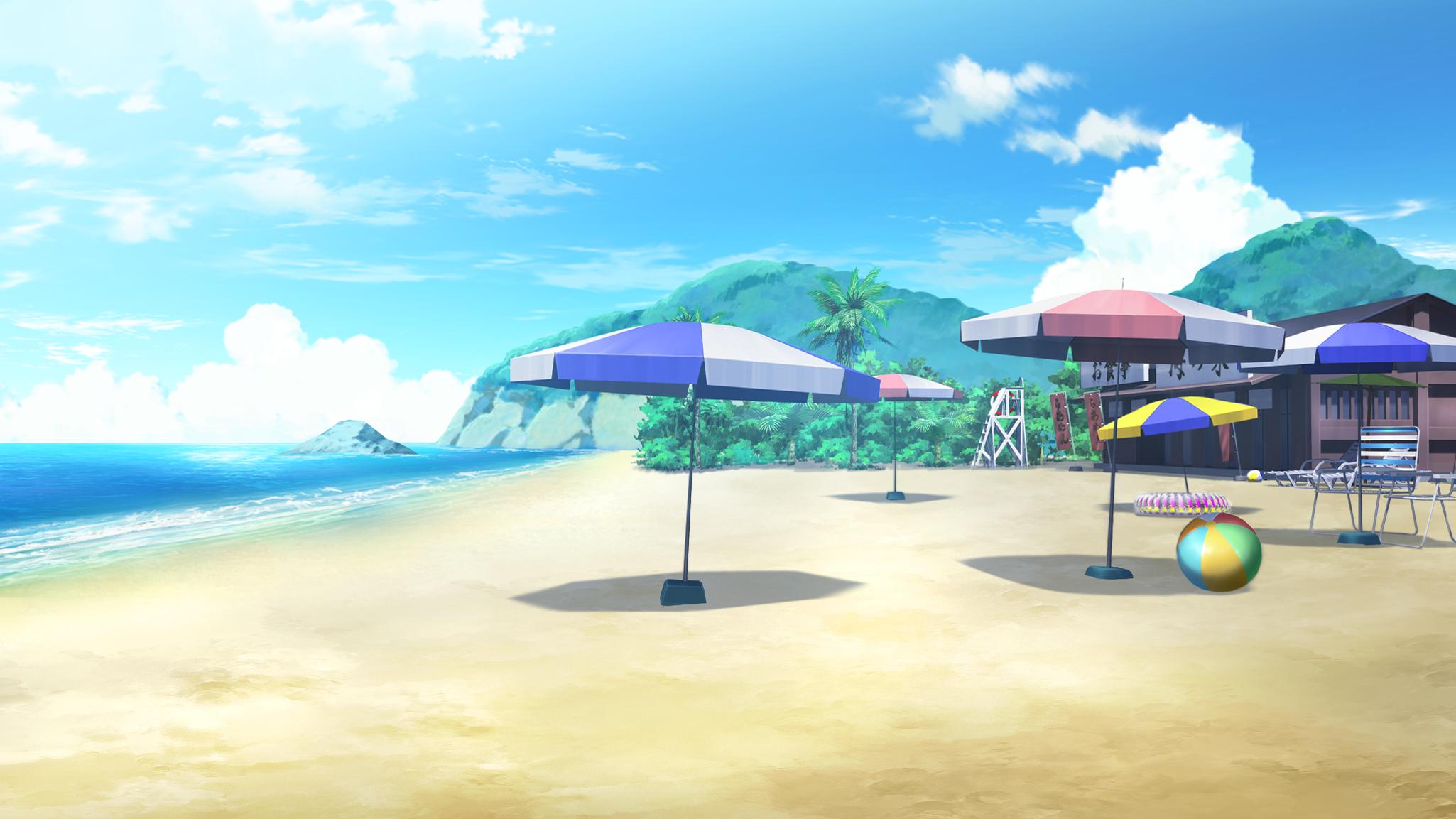 Endless Summer Everlasting Summer Iichan Eroge Beach Original Fantasy Landscape Cenario Anime Fotos Animes Fundo De Animacao