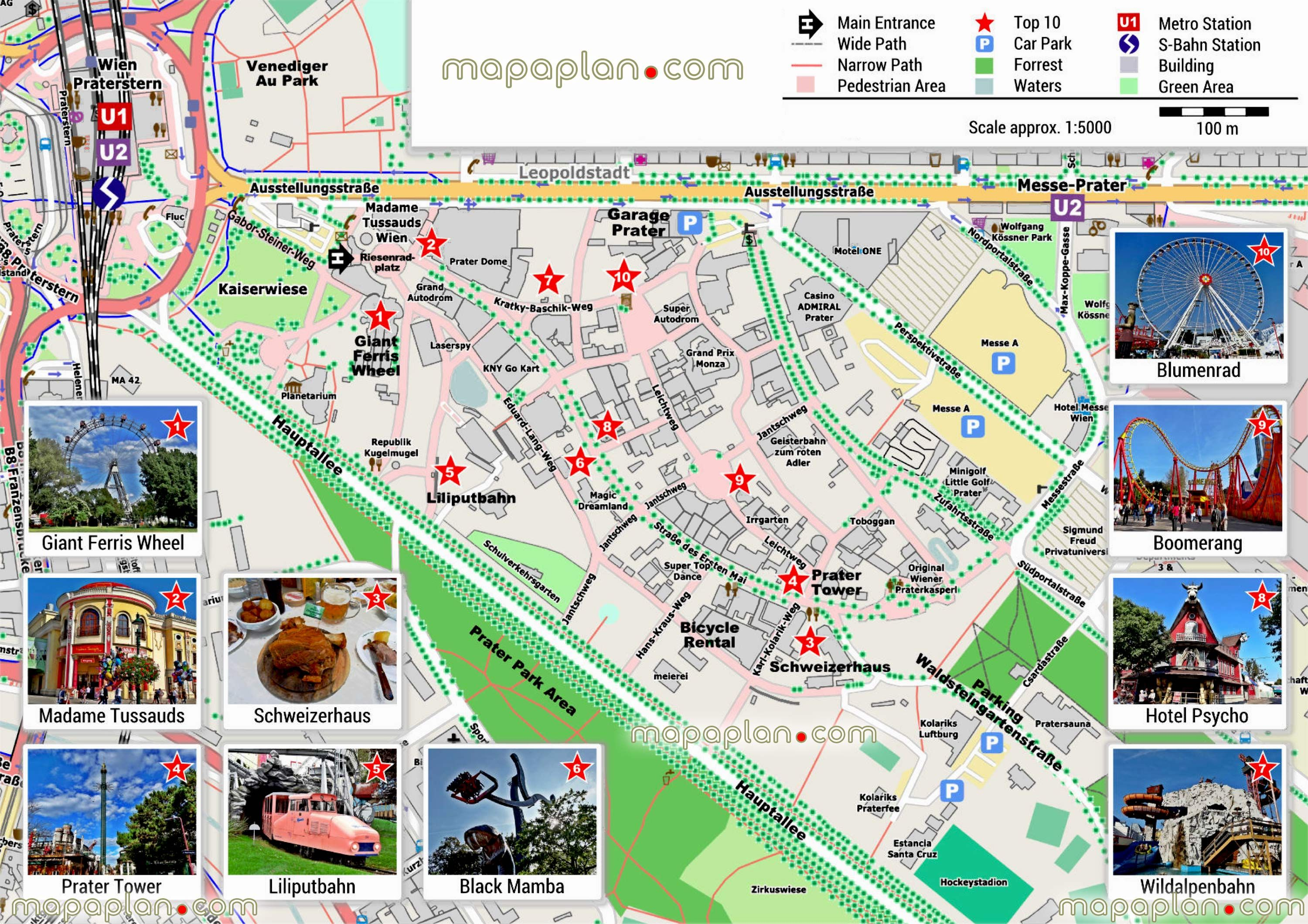 Vienna Maps Top Tourist Attractions Free Printable City