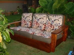 This Listing Is For A Beautiful Vintage Koa Wood Couch That Was Made In The  In The Platform Style.