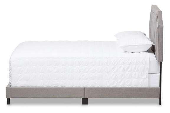 Best Baxton Studio Willis Light Grey Fabric Upholstered Queen 640 x 480