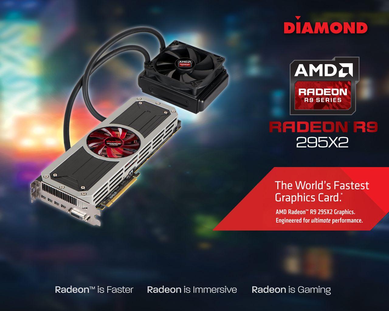 Diamond Amd R9 295x2 Pcie Gddr5 8gb Memory Dual Gpu Dual Water Block Cooler Video Card Graphic Card Video Card Amd