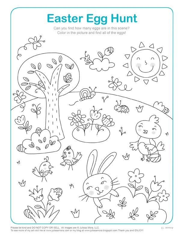 Easter Coloring Pages {Kids Activities} | OT Visual Perception ...
