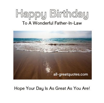 funny happy birthday messages for father in law