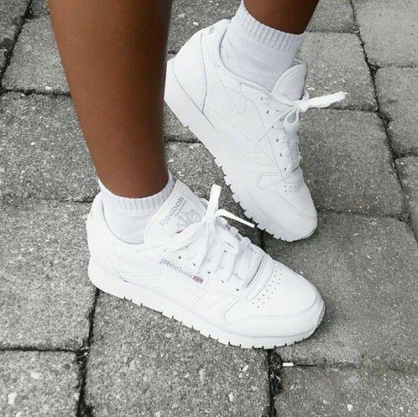shoes white sneakers white sneakers Reebok | Schoenen