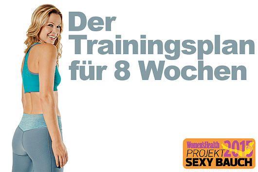 Übung für flachen Bauch für Frauen