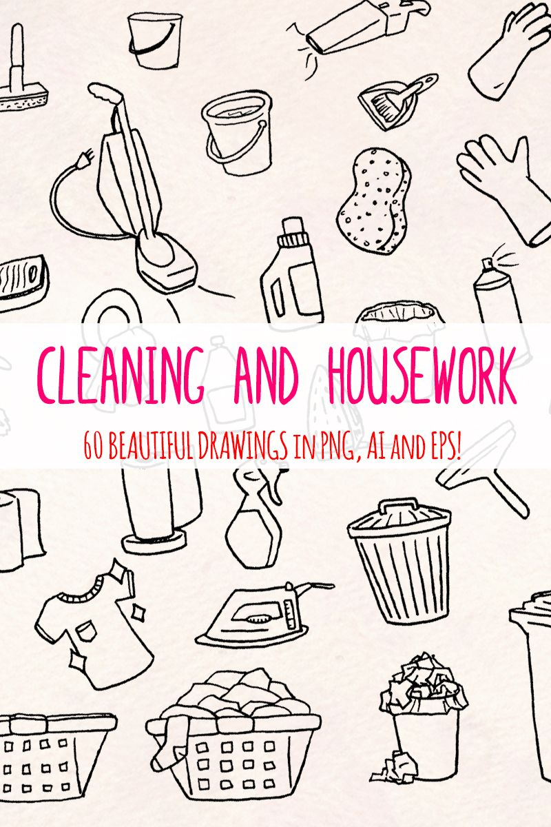 60 Cleaning And Housework Illustration 79615 Illustration