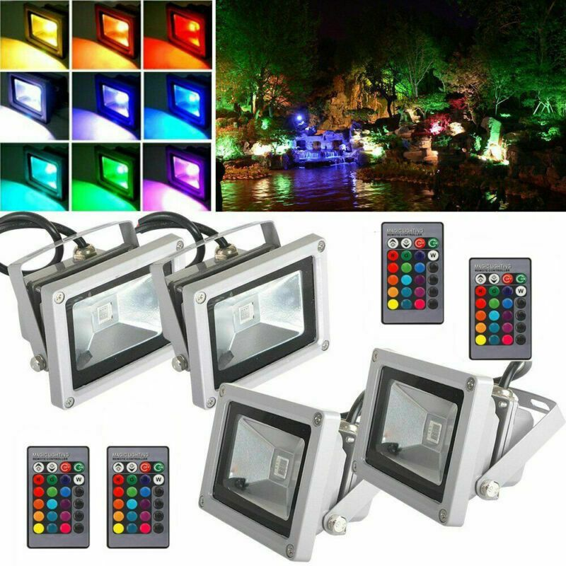 Waterproof 10W RGB LED Outdoor Color Changing Flood Spot