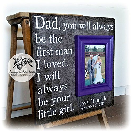 "TODAY A BRIDE Father of the Bride Custom Wedding Gift Personalized Picture Frame 16x16 Dad Daddy Men Mother Parents Quote Verse Song Vows. Thank you so much for visiting my shop! Frames from The Sugared Plums make great and unique gifts for a special wedding, anniversary, parent, grandparents, birthday, godparents, baptism, christening baby, bridesmaid, maid of honor, sister, graduation and more! This listing is for an 16""x16"" overall plaque with a 5""x7"" mounted frame We are more than…"