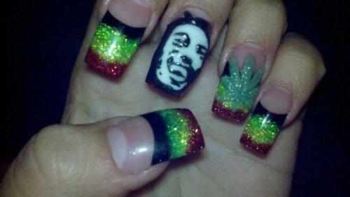 Gel Nails Tumblr Naillllls Pinterest Bob Marley Nails Nail
