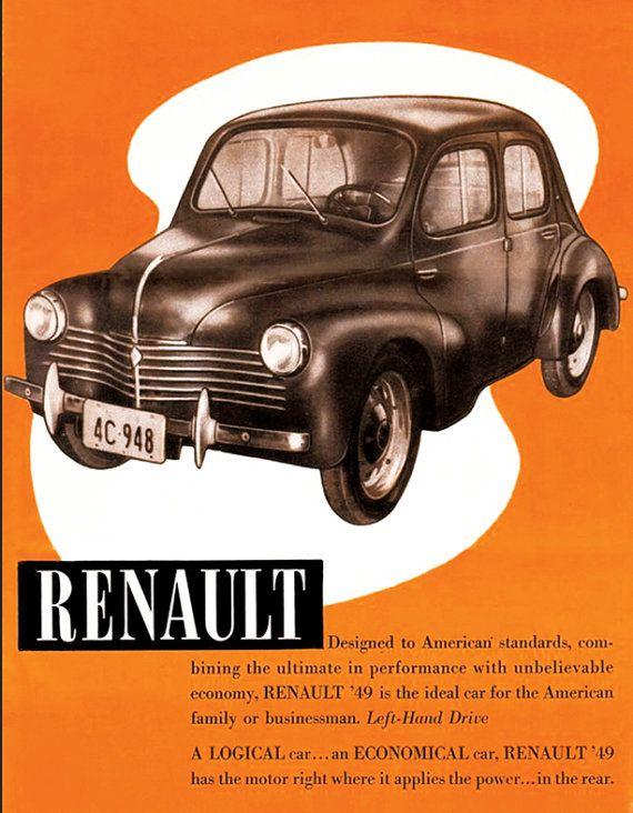 Https Www Etsy Com Fr Listing 494790761 Affiche Renault 4cv 1949 Garage Atelier Ref Shop Home Active 35 Voitures Retro Voiture Vintage Affiches Retro