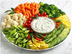 fresh veggies for a crowd 2 oz per person source http www