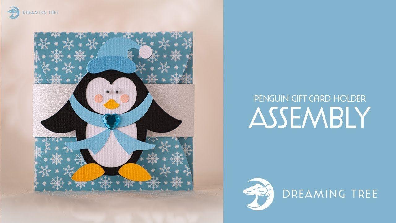 Free svg file penguin gift card holder assembly