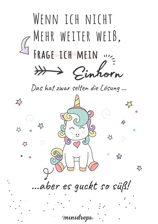Einhorn-Loesung-Spruch