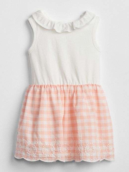 a05960ad8739 Gap Baby Plaid Mix-Fabric Dress Pink Gingham