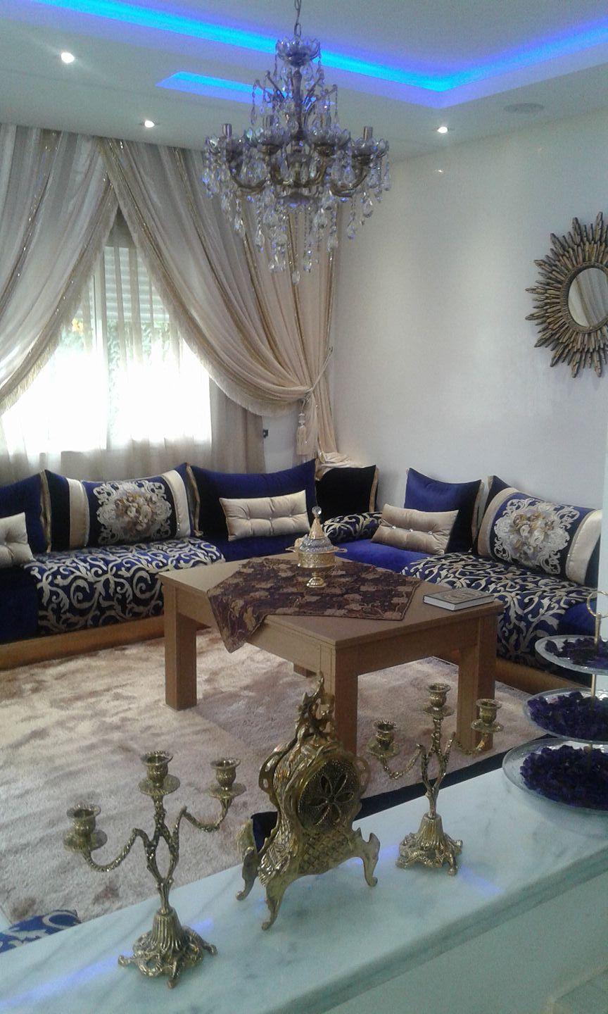 Pin by naima saidi on صالون مغربي  Moroccan living room, Living