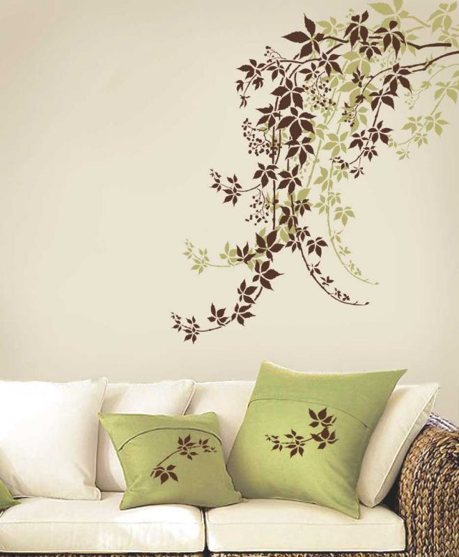 Creative Wall Stencil And Like The Color Crafty Stuff Pinterest