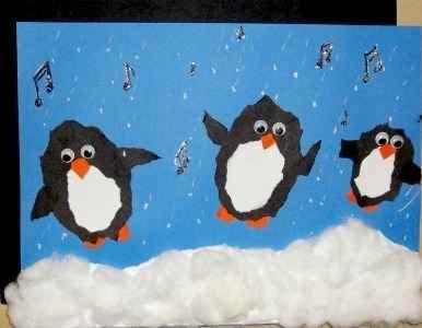 Cute+penguine+crafts | Cute Little Dancing Penguin Art Project For  Elementary Kids. Kid Art ProjectsChristmas ...