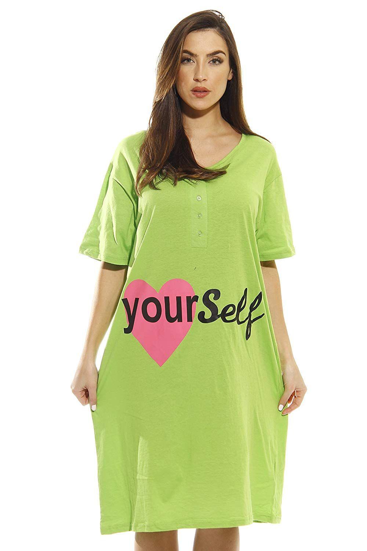 cbb8199c200a4 Just Love Short Sleeve Nightgown Sleep Dress Women at Amazon Women s  Clothing store