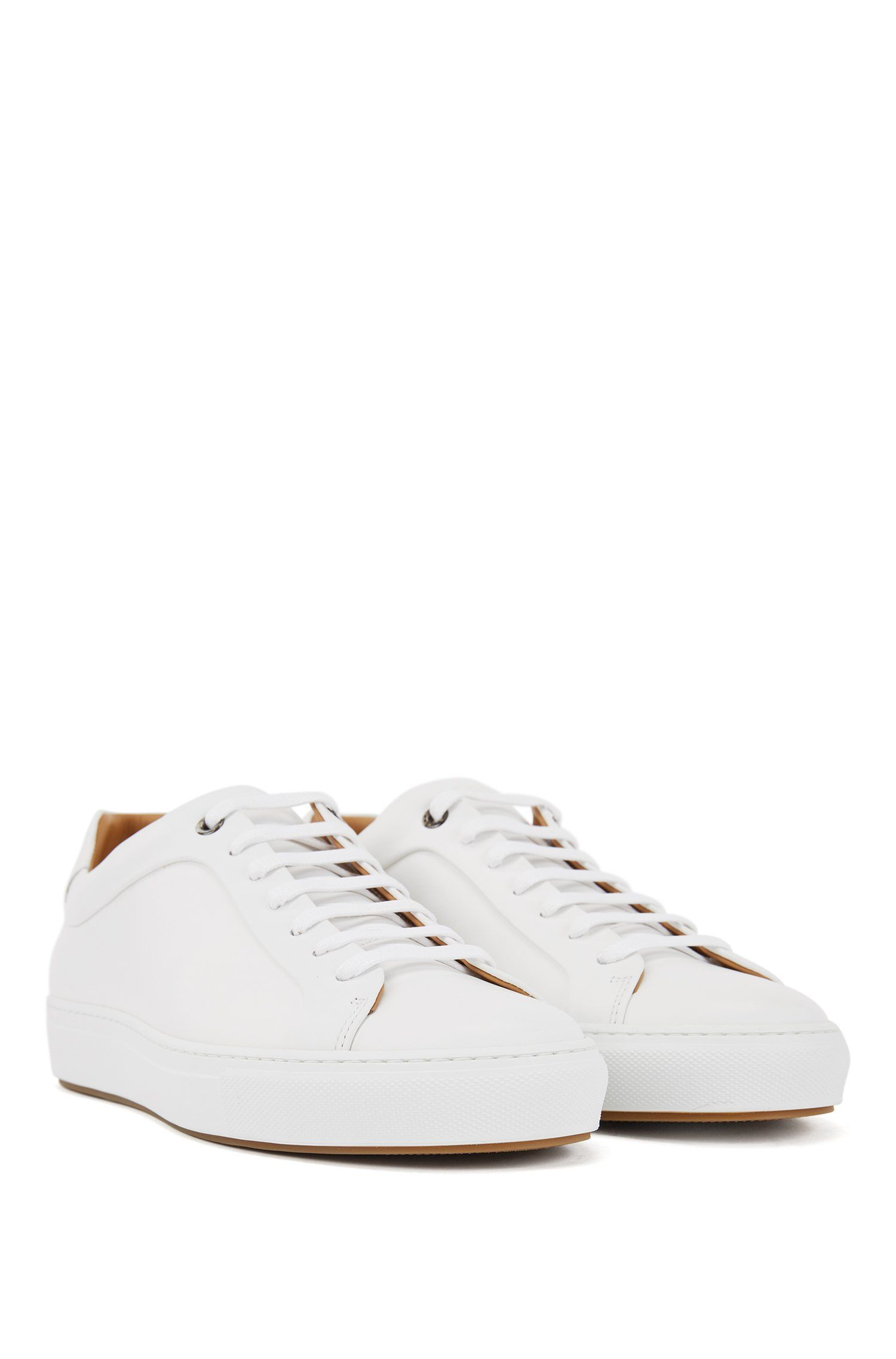 Low-top trainers in burnished calf