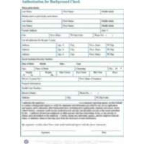 Sample Background Check Report checks template background check