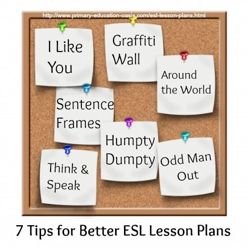 Where can you fit in these 7 ESL lesson plan ideas in your curriculum? #esllessonplans  #teachingesol