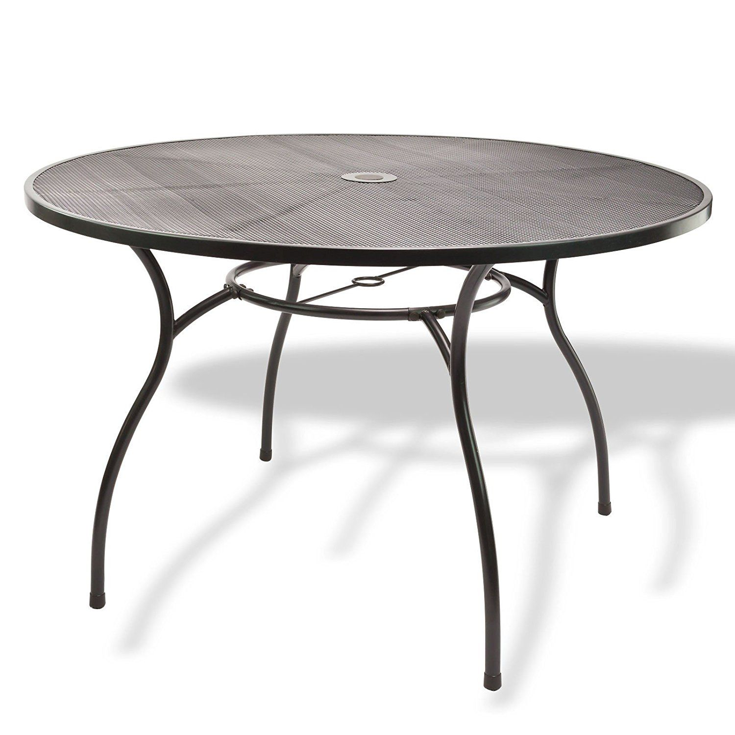 dema metal table round las vegas design 120 x 71 cm amazon - Garden Furniture Las Vegas