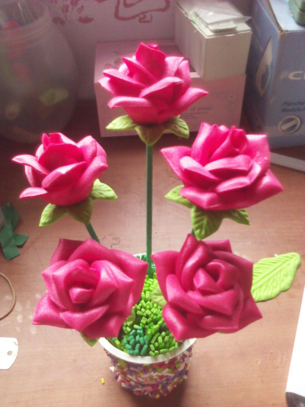 Arreglo Floral Arreglos Y Flores De Foami Arreglos