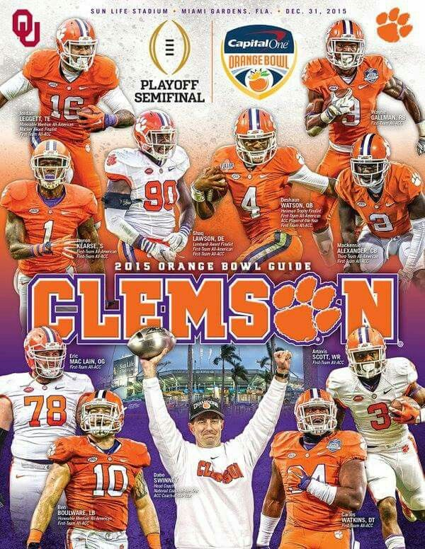 Tigers Clemson football, Clemson, Orange bowl