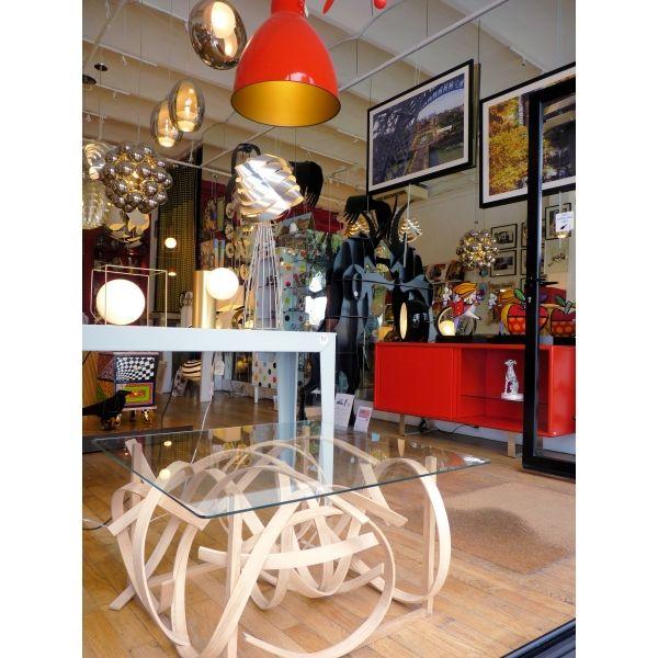 Table Basse En Lames De Bois Et Verre Table Basse Lame De Bois Table De Salon Design