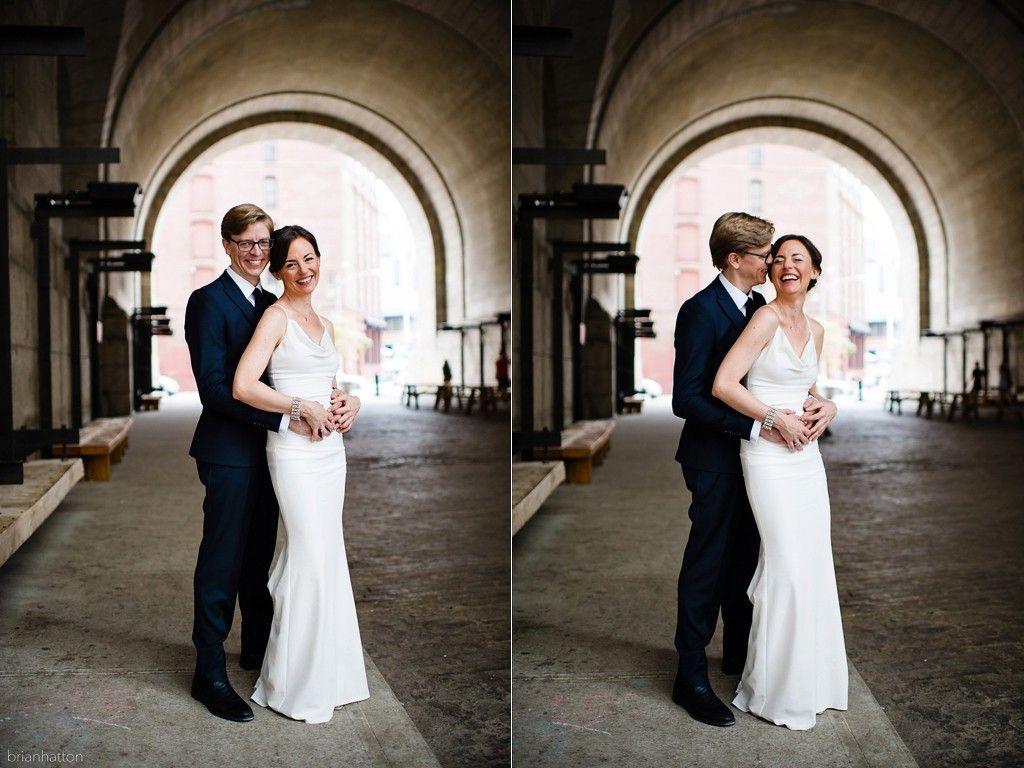Wedding Under The Manhattan Bridge In Dumbo Brooklyn By Brian Hatton Photography
