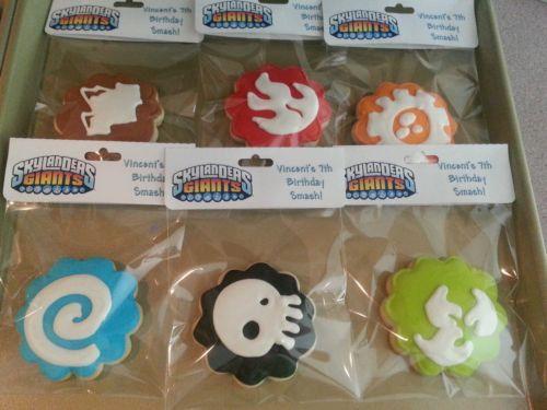 Custom Decorated Skylanders Cookie Birthday by sindfulcookies, $18.00