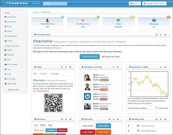 Charisma is a fully featured, free, premium quality, responsive ...