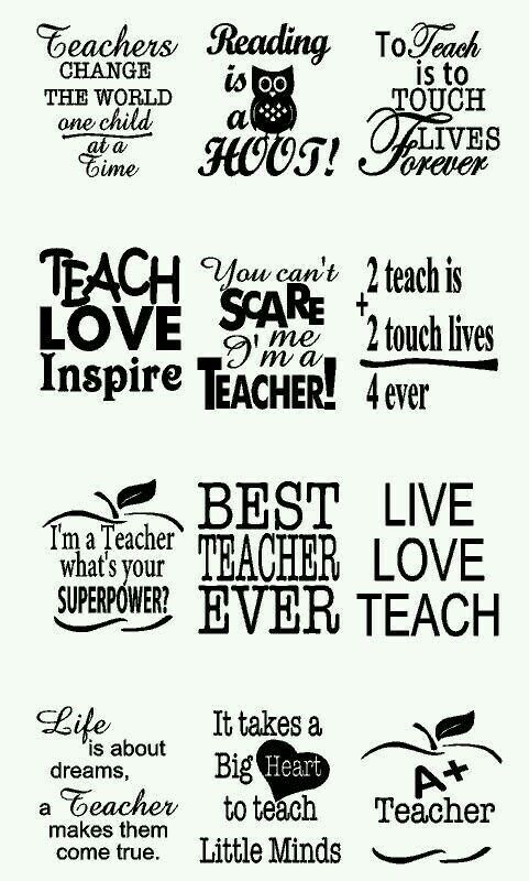 Teacher Appreciation Decals | 12 Quotes + 4 Personalized Names