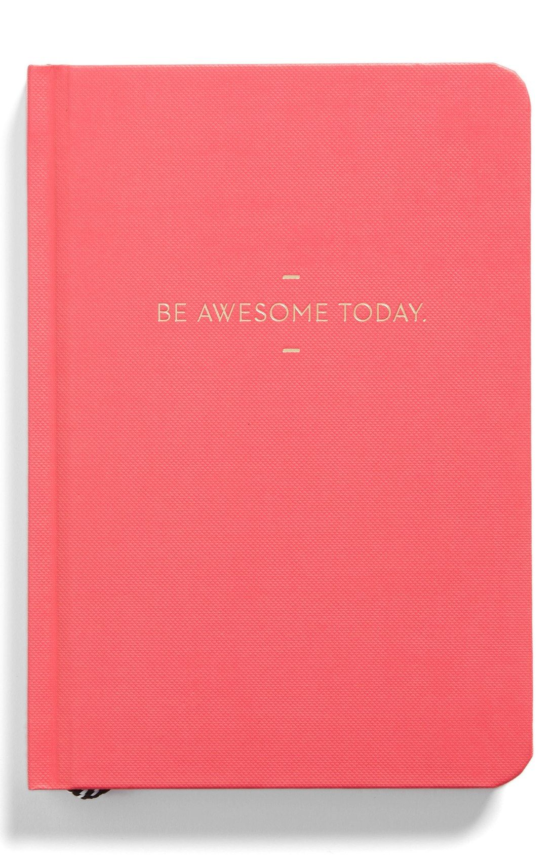 This adorable and sleek pinkjournal isstamped with the foiled motto 'Be Awesome Today'.