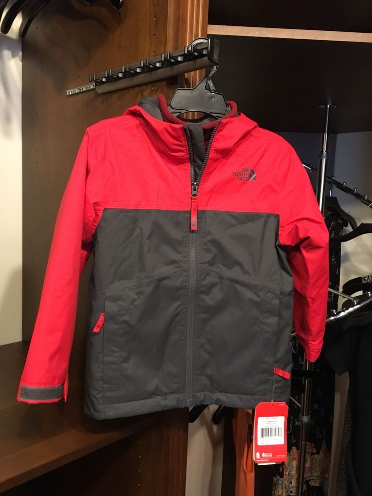 164076f29 The North Face Boys Chimborazo Triclimate 3-In-1 Jacket Size XS Red ...