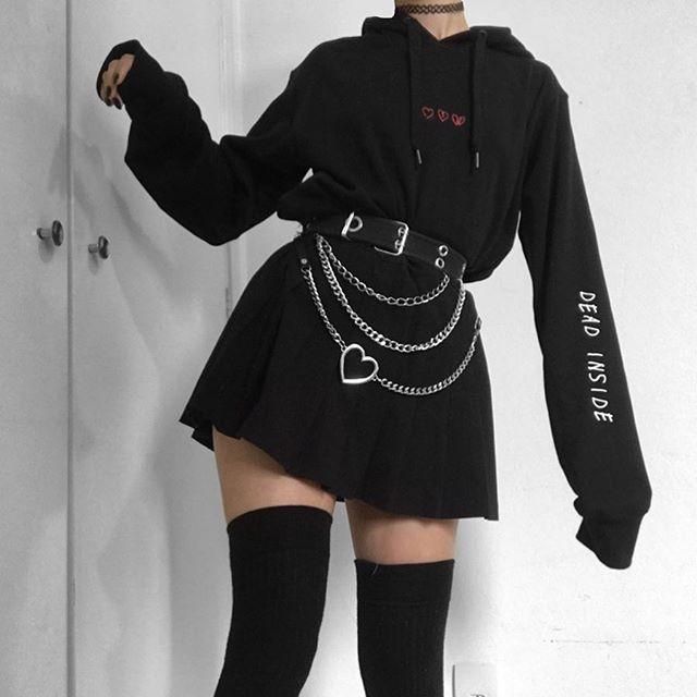 """Ana on Instagram: """"1, 2 , 3, 4 or 5?👯🖤 . . . . #grunge #softgrunge #gothaesthetic #goth #grungeaesthetic #90sfashion #alternative #style #fashion #styling…"""""""