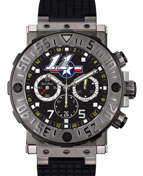 Paul Picot Plongeur € 5850,- for € 4475,-      Ben Spies is Motor GP champion and his automatic  Limited Edition watch has only 111 pieces worldwide. An optimum price-quality ratio is important as evident from the history of achievements of this fantastic watch factory. www.megawatchoutlet.com