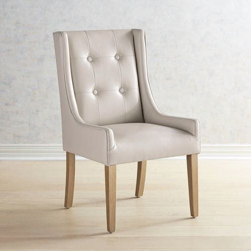 Mason Ivory Wingback Dining Chair With Natural Stonewash