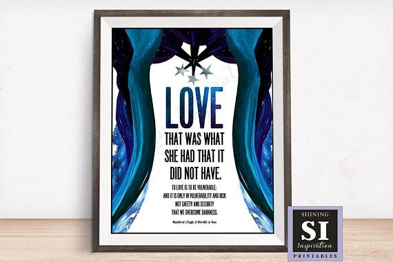 A Wrinkle In Time Quote Love Vulnerable Overcome Dark Classroom