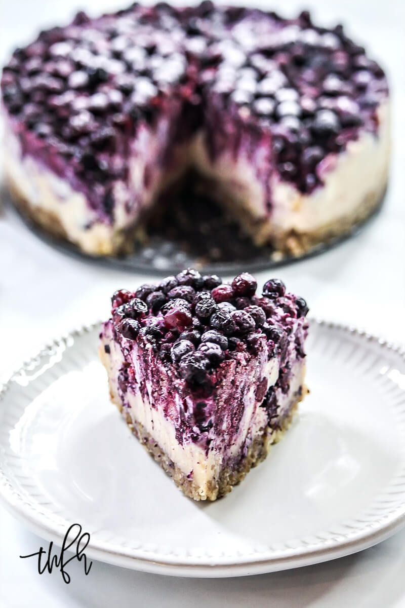 Gluten-Free Vegan No-Bake Wild Blueberry Cheesecake -   17 desserts Blueberry clean eating ideas