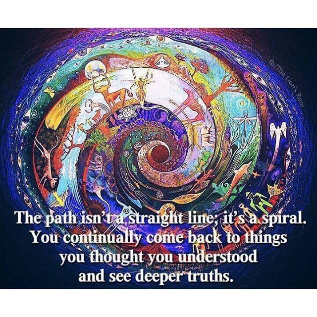The Path Isnu0027t A Straight Line... Itu0027s A Spiral. You. Life Path QuotesWise  ...