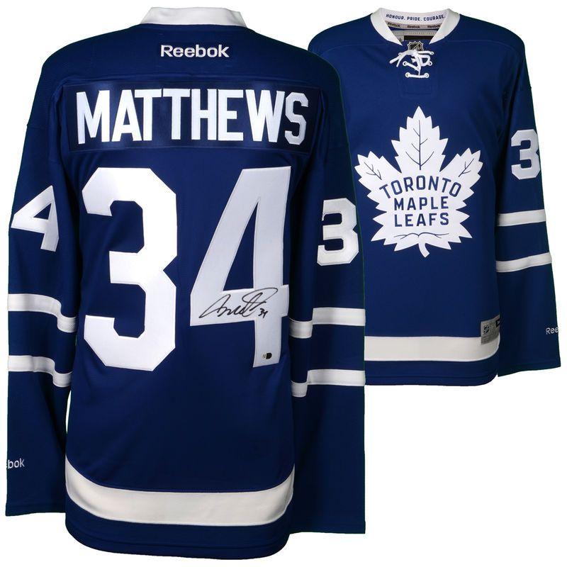 Auston Matthews Toronto Maple Leafs Autographed Reebok