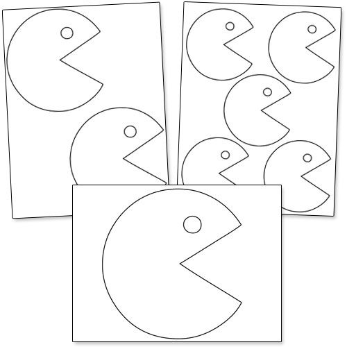printable pacman patterns from printabletreats com shapes and