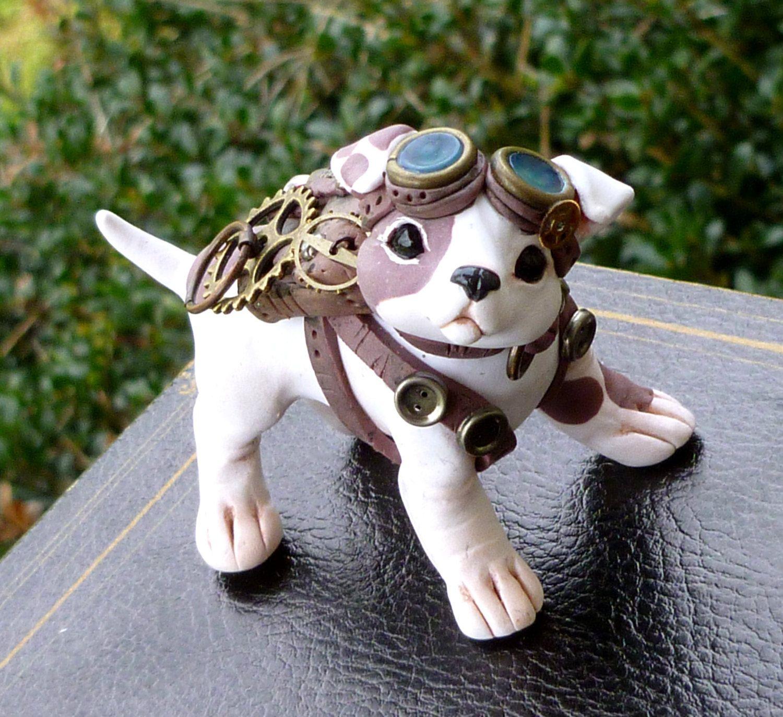Steampunk Puppy Dog Myxie Pal Sculpture Artists That