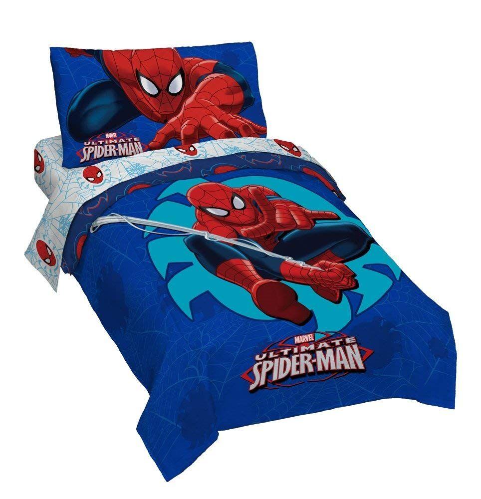 Marvel Spiderman 'Regulator' Toddler 4 Piece Bed Set ...