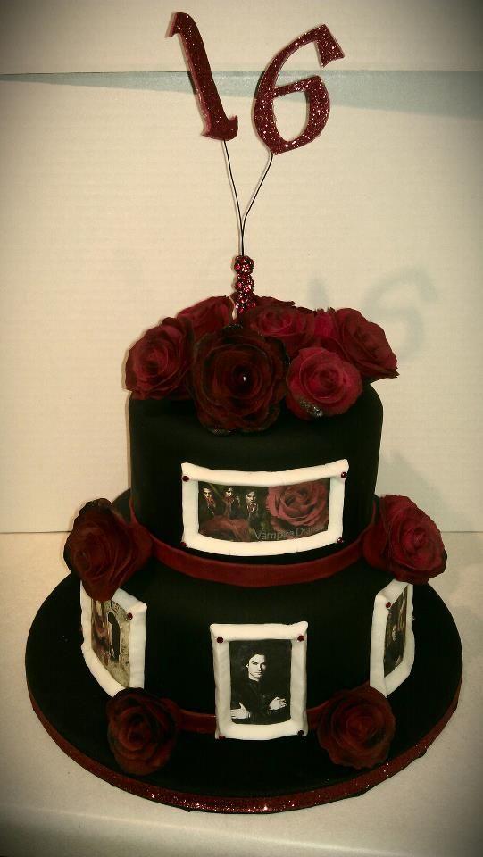 Vampire Diaries Sweet 16 Birthday Cake Celebration Cakes Cupcakes